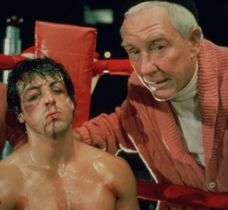 "Mick: ""Your nose is broke."" Rocky: ""How's it look?"" Mick: ""Ah, it's an improvement."""